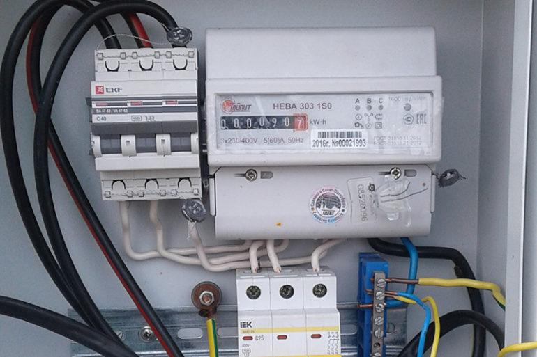 Подключение провода СИП